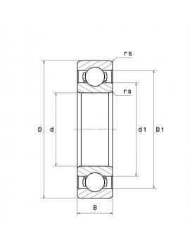 607 Шариковый радиальный миниатюрный подшипник открытого типа SNR