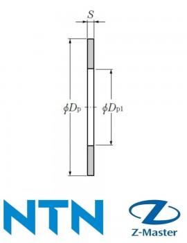 AS1111 Упорное кольцо игольчатого подшипника NTN