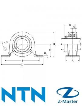 M-ASPP201 Подшипниковый узел в сборе с подшипником NTN