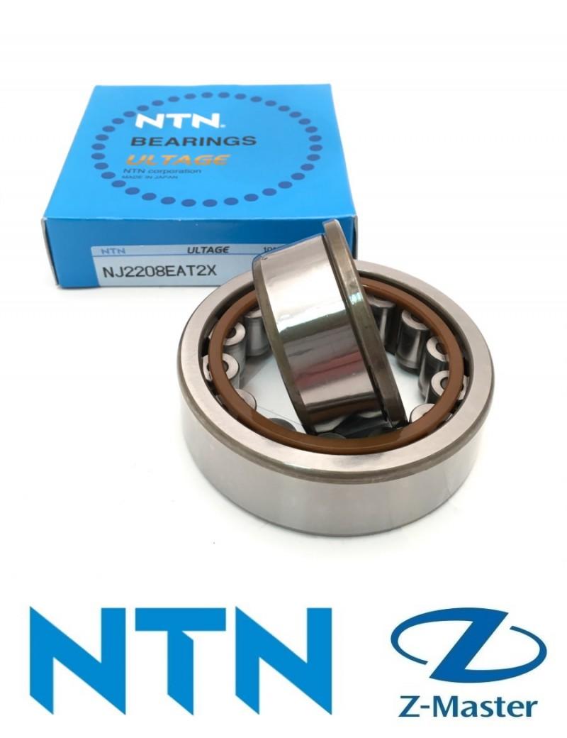 NJ2208ET2X Однорядный цилиндрический роликовый подшипник NTN