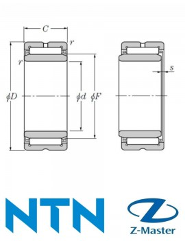 NA4822 Игольчатый подшипник с внутренней обоймой NTN